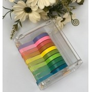 WASHI TAPE COLORS 5MM 10CORES - WT710