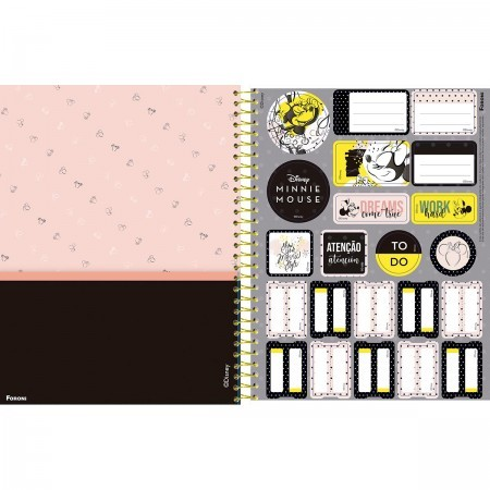 CADERNO CAPA DURA COLLEGE MINNIE MOUSE