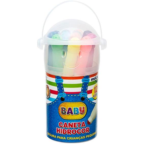 Caneta Hidrografica Baby Copo C/ 12 Cores
