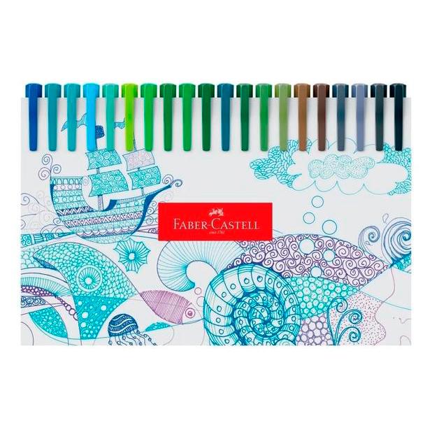 Canetas Fine Pen Colors 60 Cores  - FABER-CASTELL