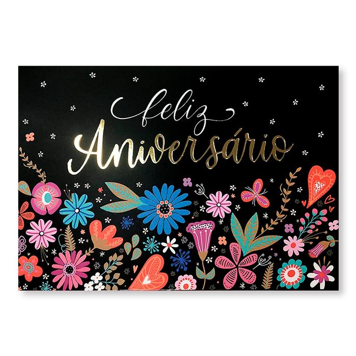 Cartão Essencial Feliz aniversário FINA IDEIA
