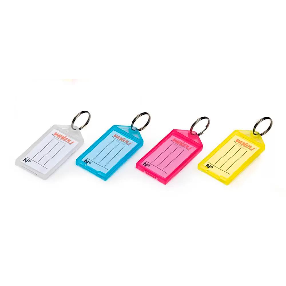 Chaveiro Plástico com Etiqueta Waleu