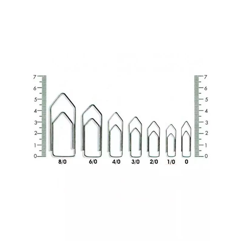 Clipes 8/0  Galvanizado ACC - 25 Unidades