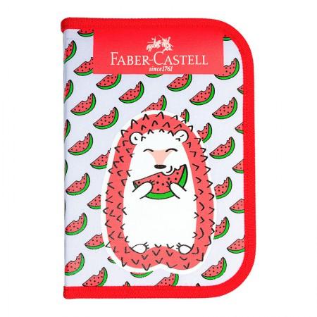 Estojo escolar Porco Espinho - 18 Itens - Faber-Castell