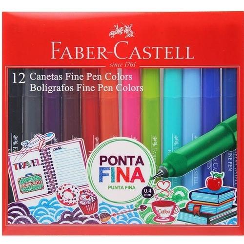 Estojo Fine Pen C/12 Cores FABER CASTELL