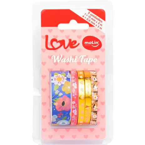 Fita Adesiva Decorada Washi Tape Love MOLIN