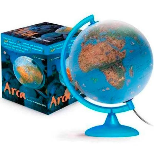 Globo Terrestre Arca 25cm C/led Base Azul