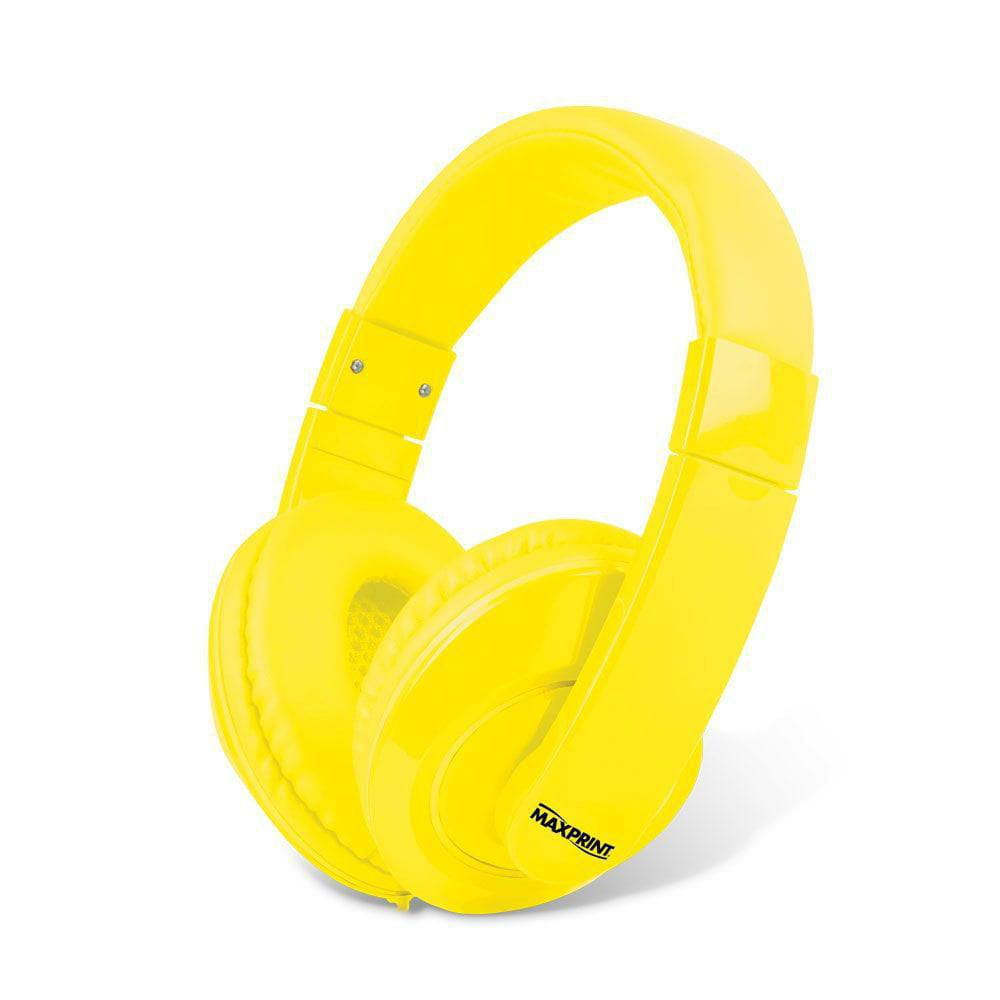 Headset Amarelo com Microfone MAXPRINT