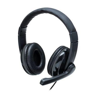 Headset PRO USB Preto e Cinza MULTILASER PH317