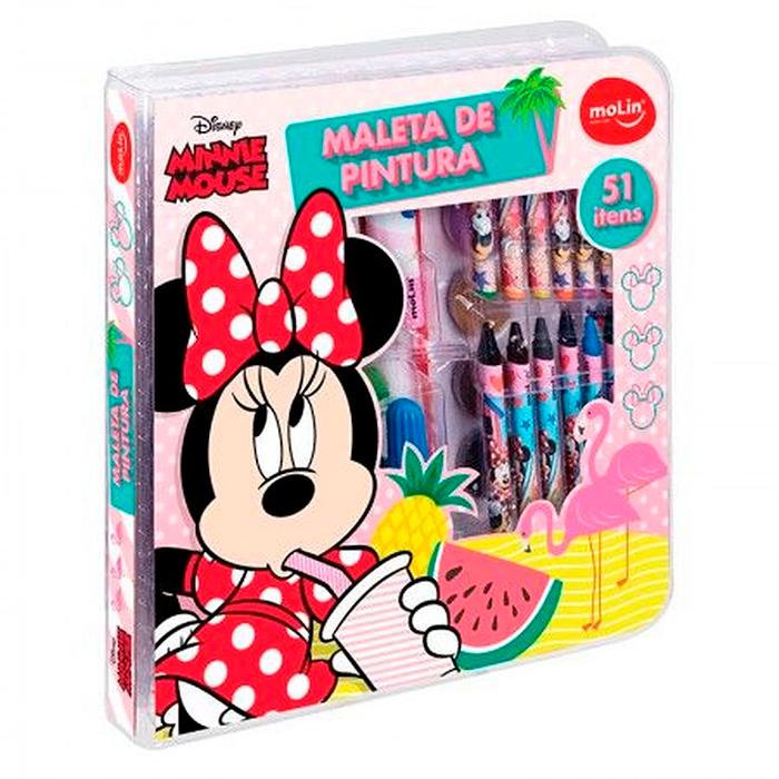 Maleta de pintura Minnie com 51 itens - MOLIN
