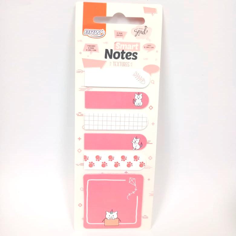 Marcador  De Página Smart Notes Textures Gato