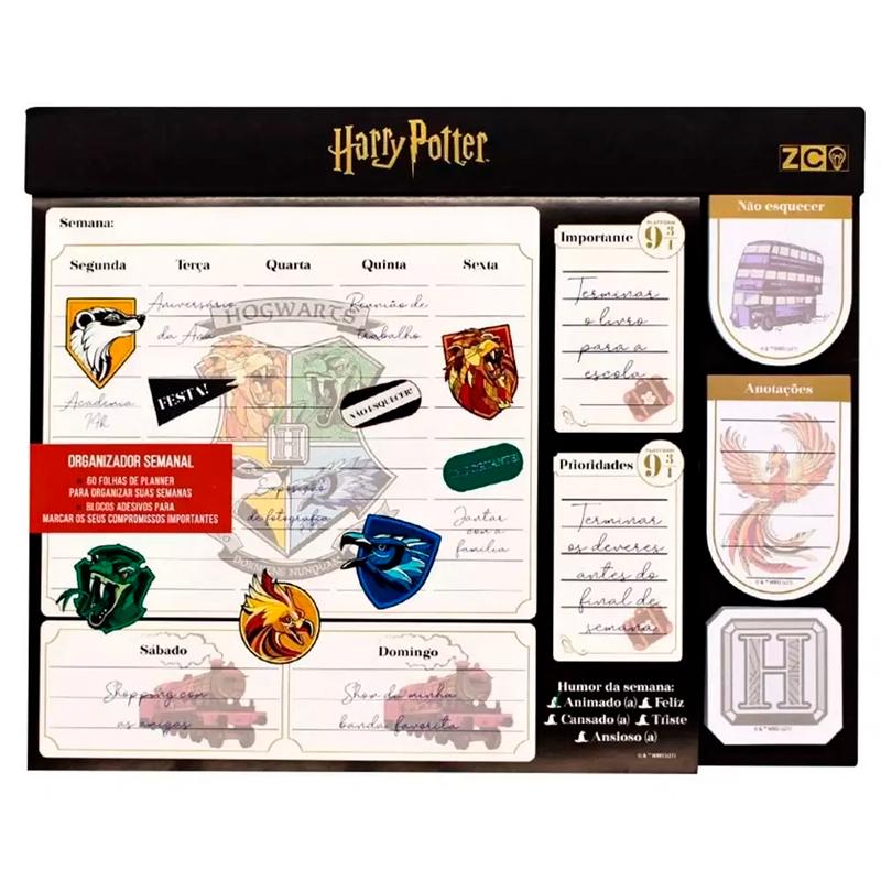 Organizador Semanal Harry Potter - ZONA CRIATIVA