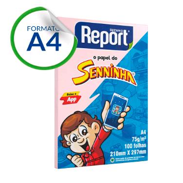 Papel Sulfite SENNINHA Cores A4 75g 100 folhas – 1UN