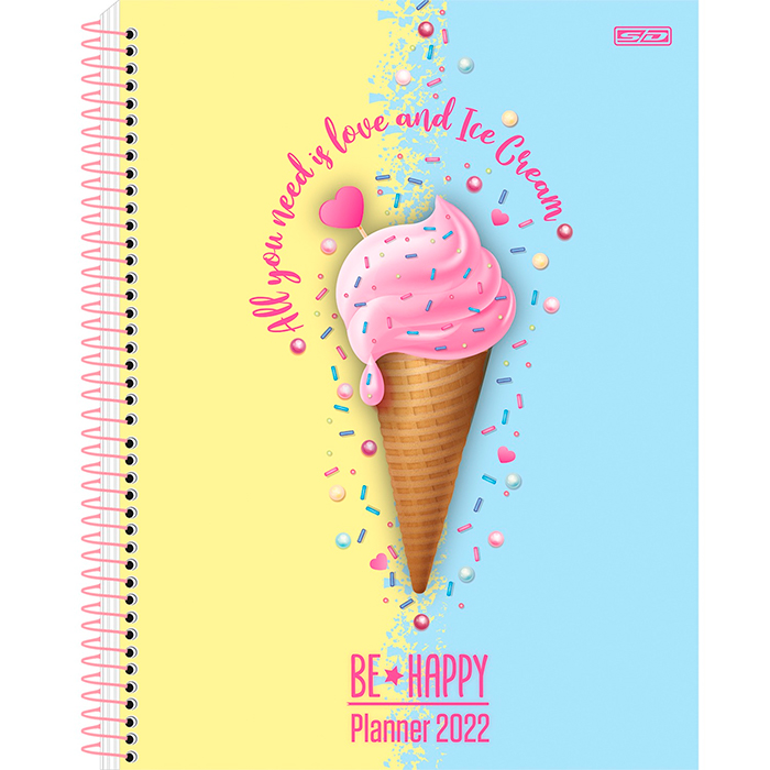 PLANNER ANUAL 2022 BE HAPPY SD
