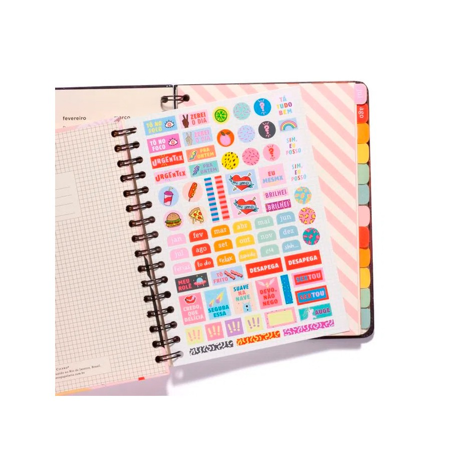 PLANNER WIRE-O PASTEL SEMANAL A5 ROSA