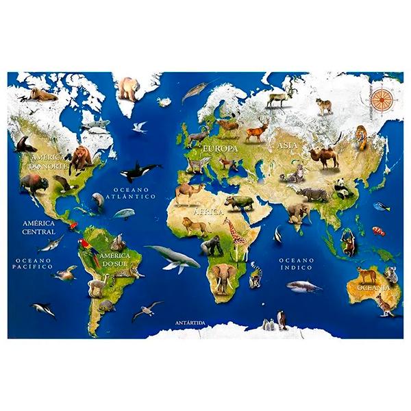 Quebra-Cabeça Animais do Mundo 150 peças -GROW