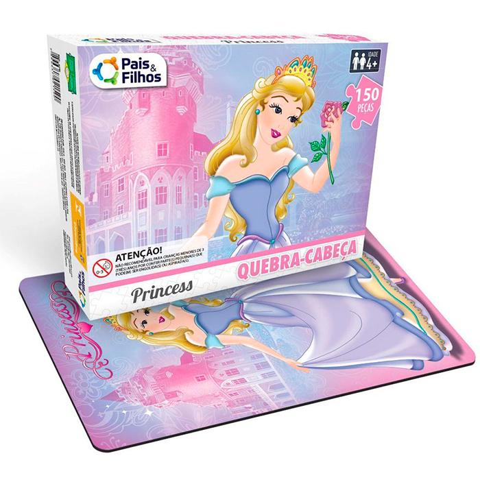 Quebra-Cabeça (Cartonado) Princess 150 Pecas - PAIS E FILHOS
