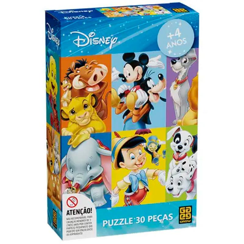 Quebra-Cabeça Personagens Disney 30 Peças GROW