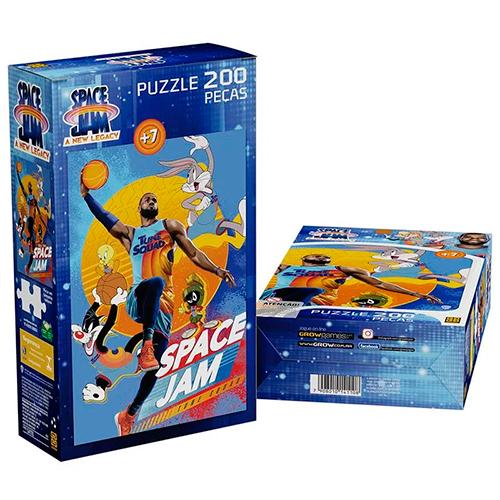 Quebra - Cabeça Puzzle 200 peças Space Jam - GROW