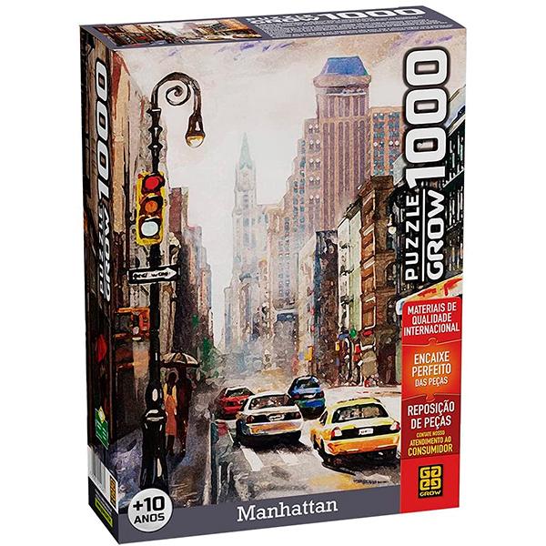 Quebra-Cabeça Puzzle Manhattan 1000 Peças - GROW