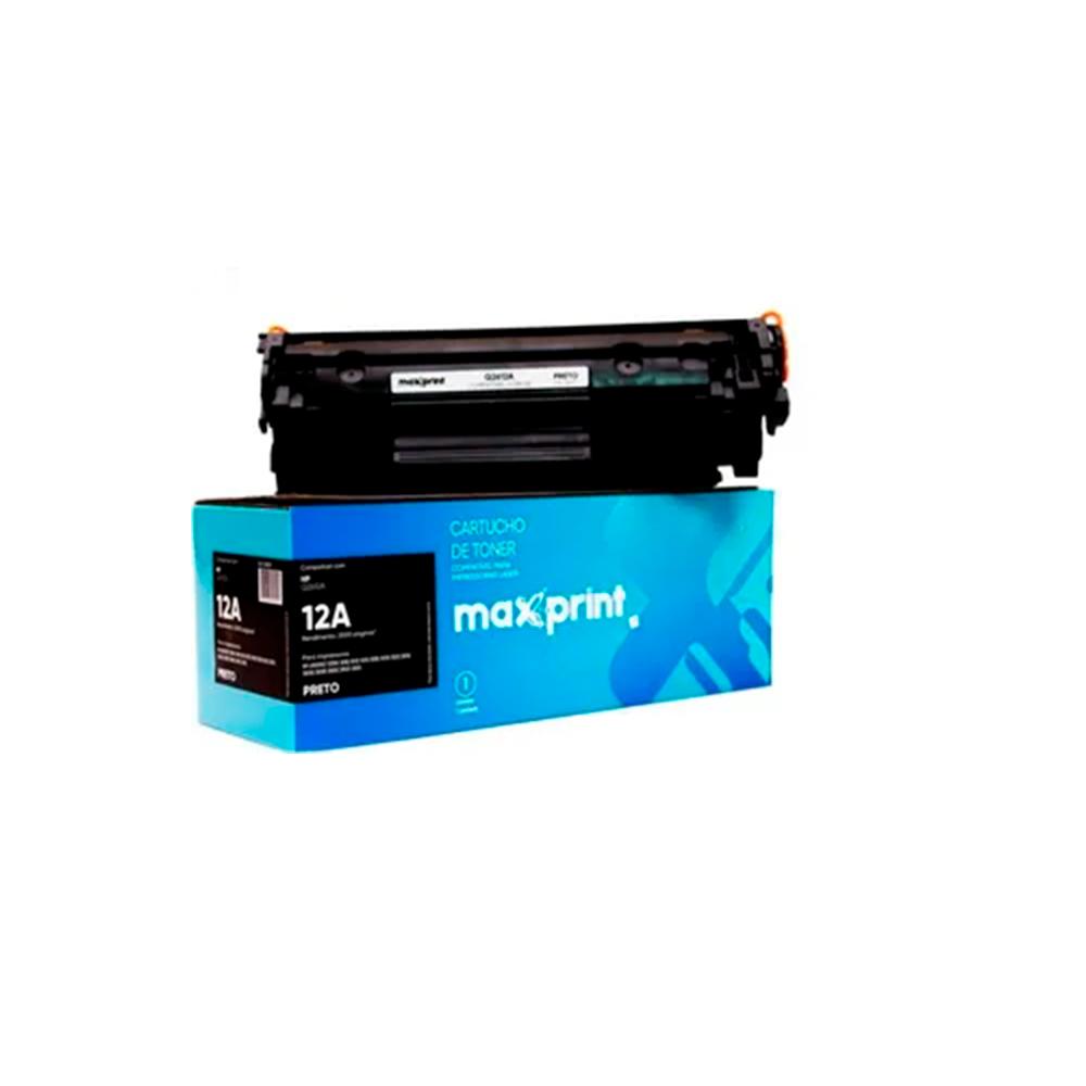 Toner Maxprint Para HP Q2612A Preto
