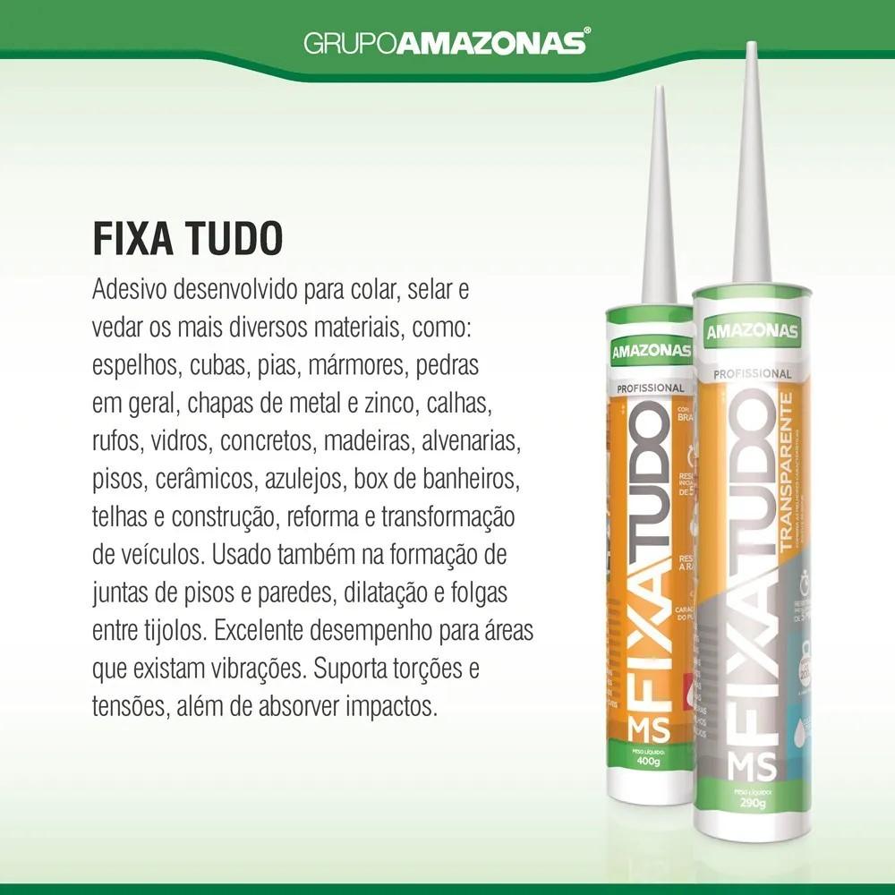MS FIXA TUDO BRANCO 400g - Caixa com 12 Tubos