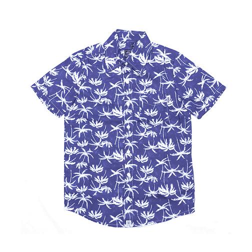 Camisa Botão Básica Coqueiro Azul P