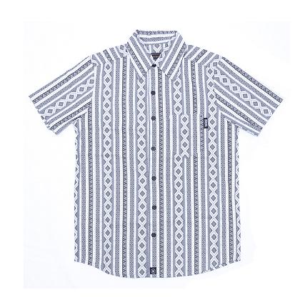 Camisa Botão Básica Geométrica P