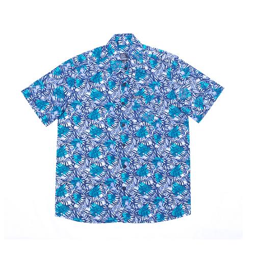 Camisa Botão Básica Verde/azul M
