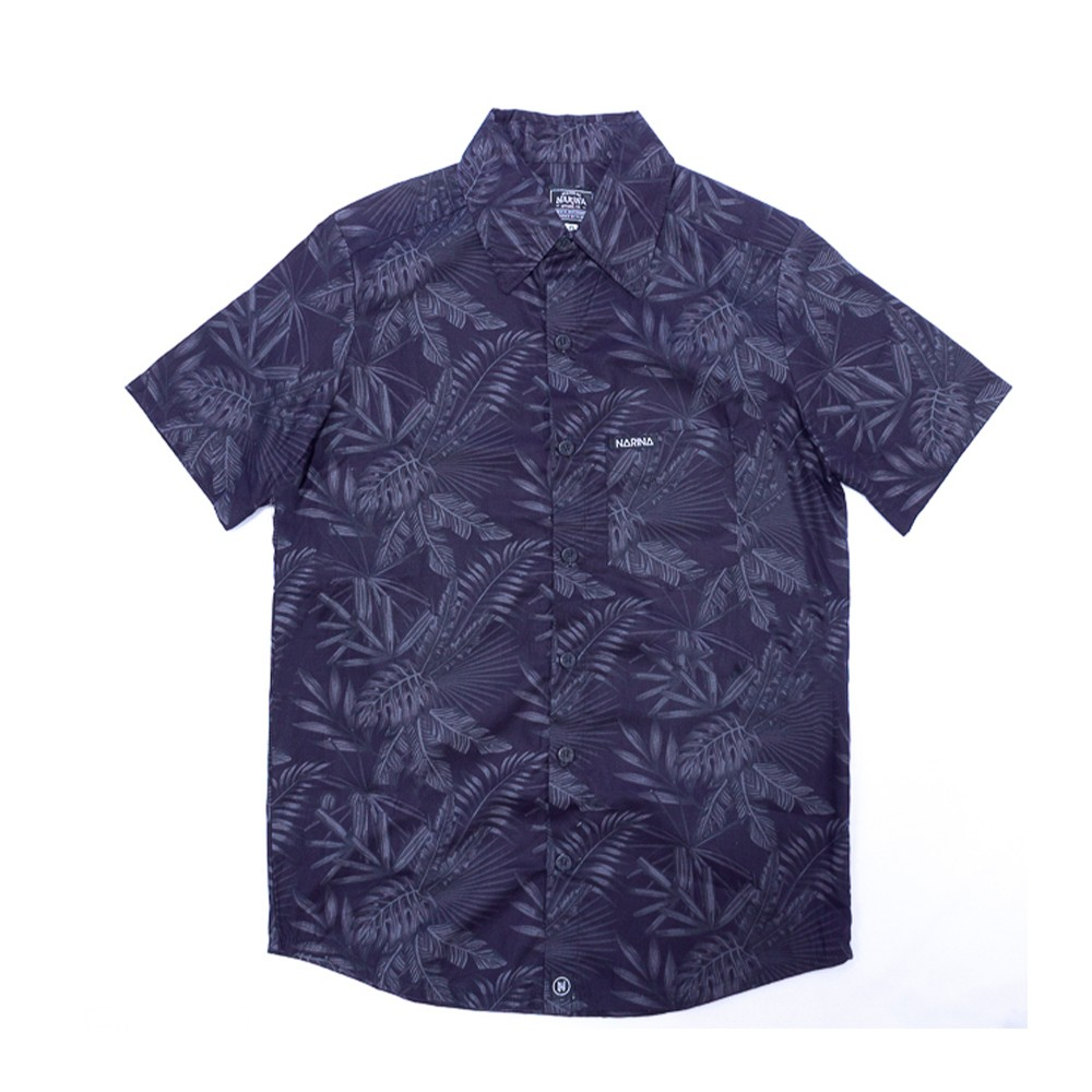 Camisa Viscose Folhas Black