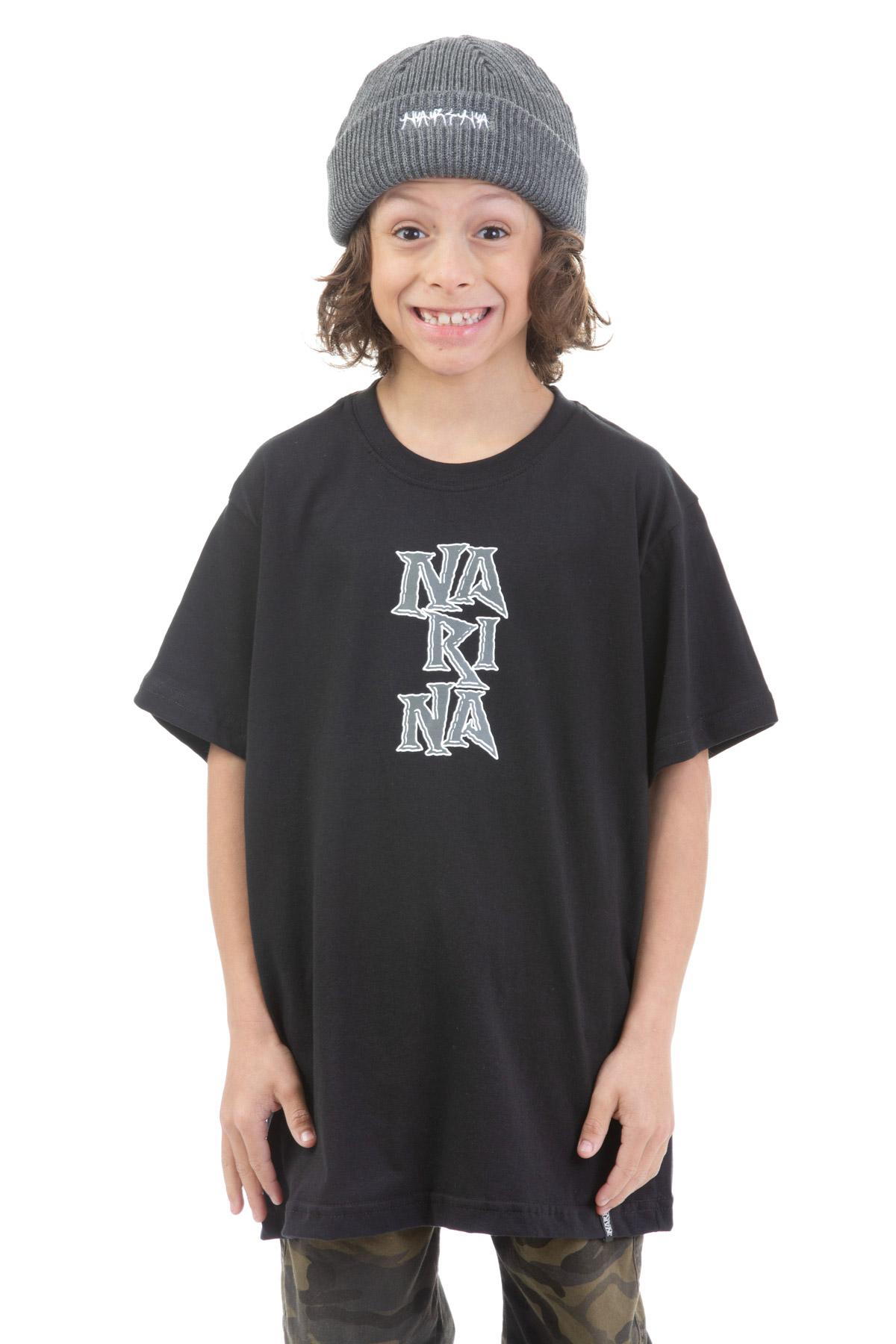 Camiseta Manga Curta Juvenil Narina Skate Logo 2