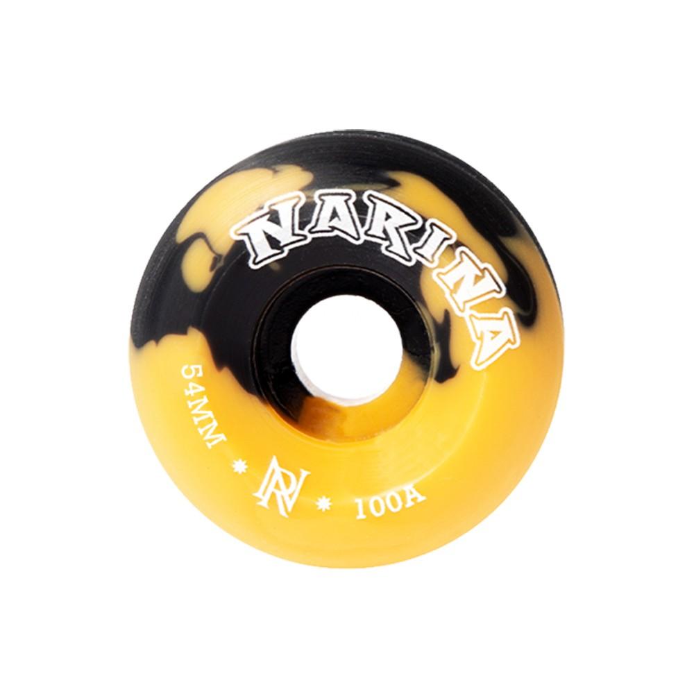 Roda Rajada Preta/amarela 54mm