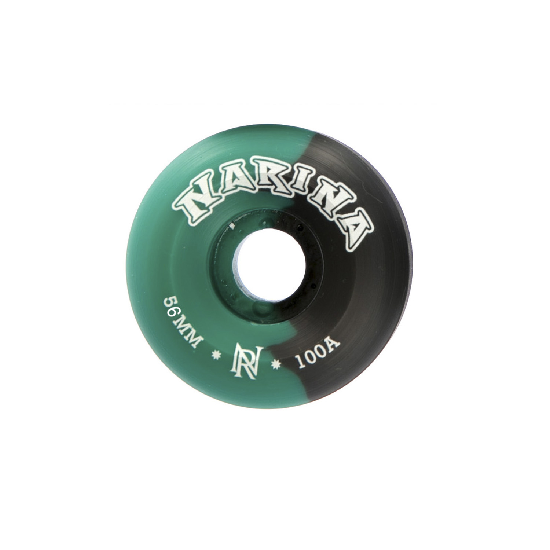 Roda Rajada Preta/verde 56mm Narina Skate
