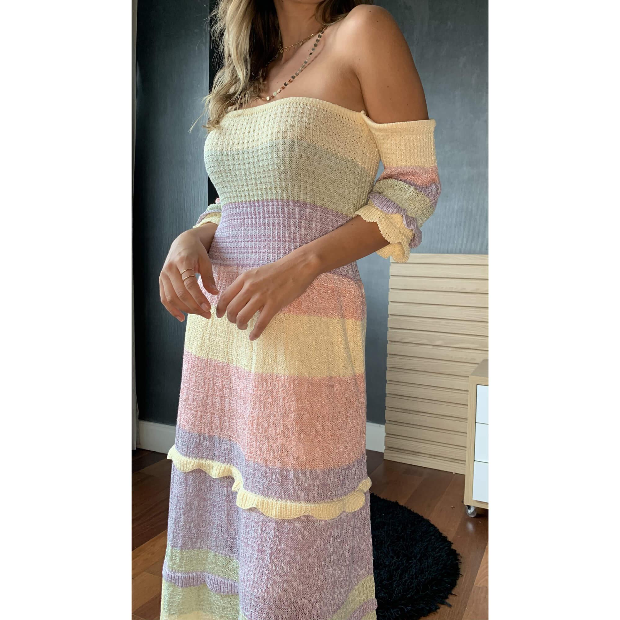 Vestido Cintia Listras