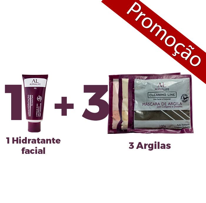 1 Hidratante + 3 Argilas