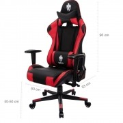 Cadeira Gamer Reclinável Giratória Tanker Evolut Eg-900 - Vermelho e Preto