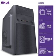 COMPUTADOR HOME H200 - PENTIUM DUAL CORE G4560 3.5GHZ 4GB DDR3 HD 500GB HDMI/VGA FONTE 200W