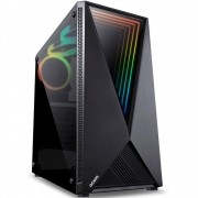 Gabinete Gamer PCYes Vector, Mid Tower, RGB, com FAN, Lateral em Vidro - VCPTRGB3FV