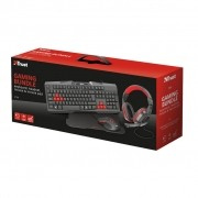 KIT Teclado Headset Mouse e Mousepad Trust Gaming Bundle