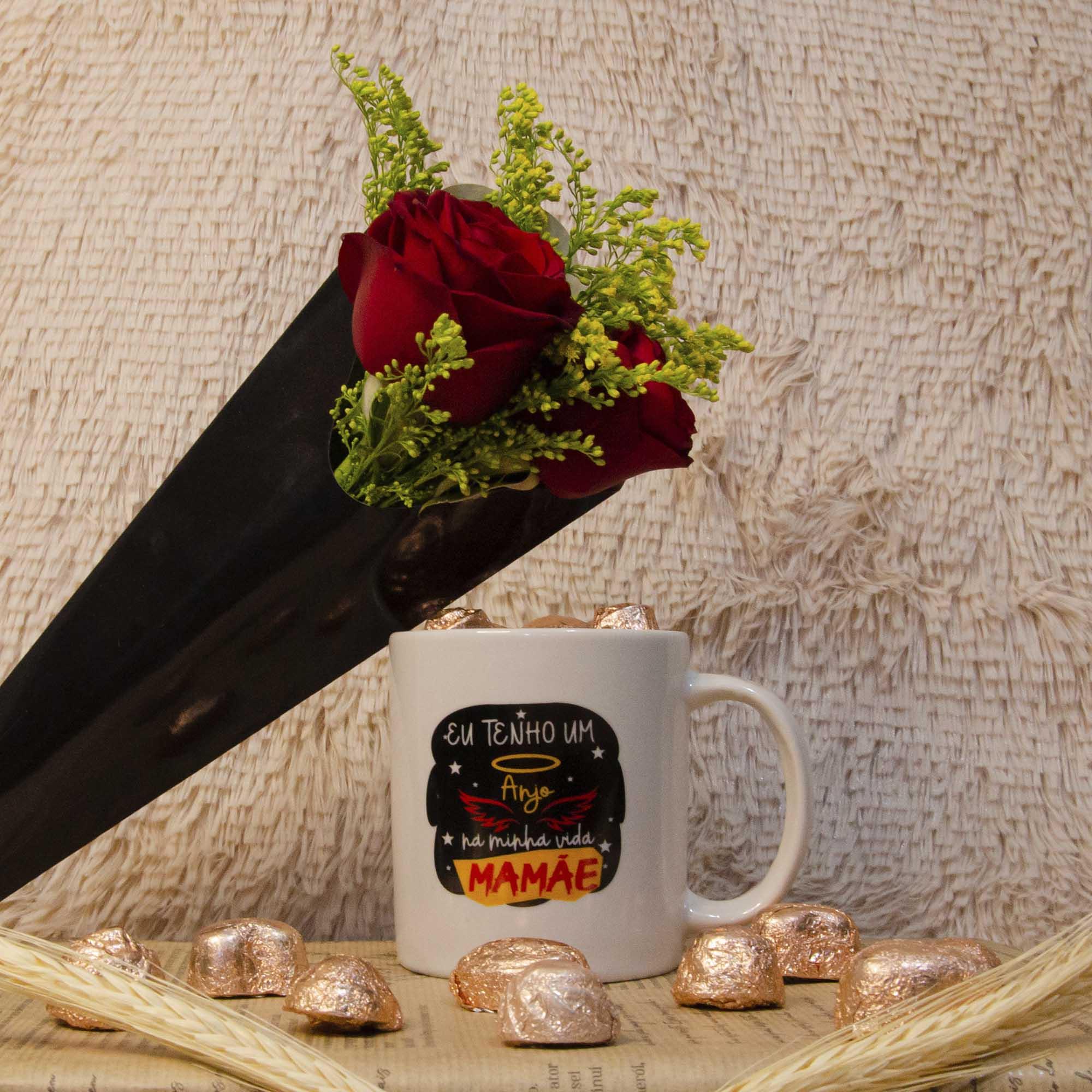 Kit Dia das Mães - Rosas e Caneca com Chocolate