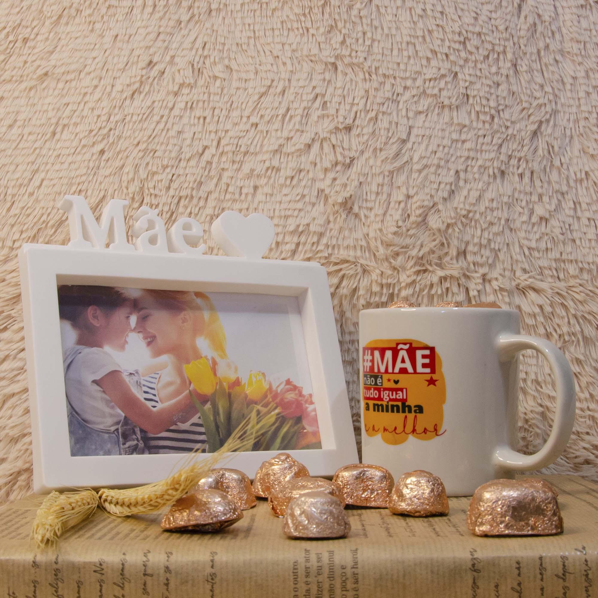 Kit Dia das Mães - Porta Retrato e Caneca com Chocolate