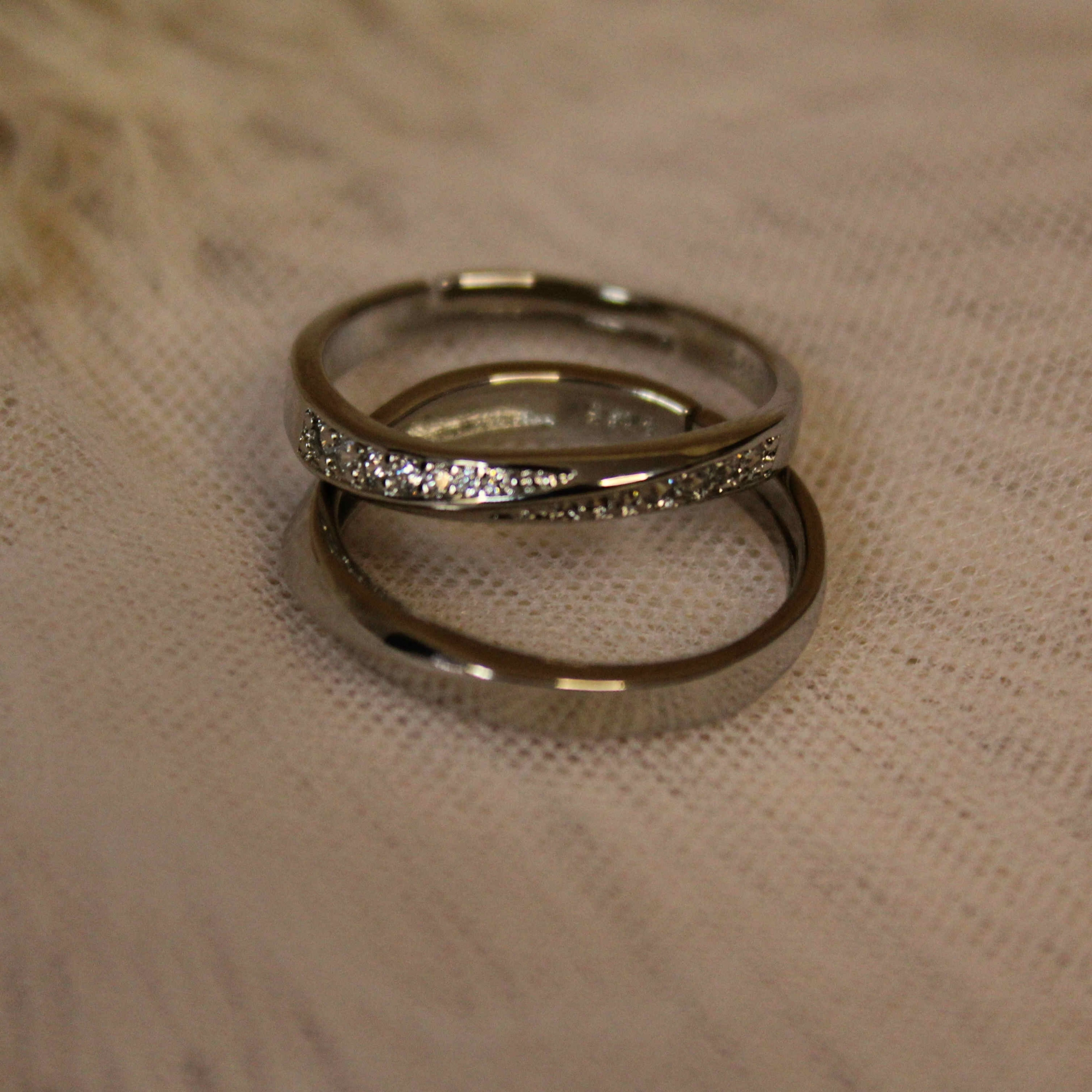 Anéis de Compromisso banhado a Prata