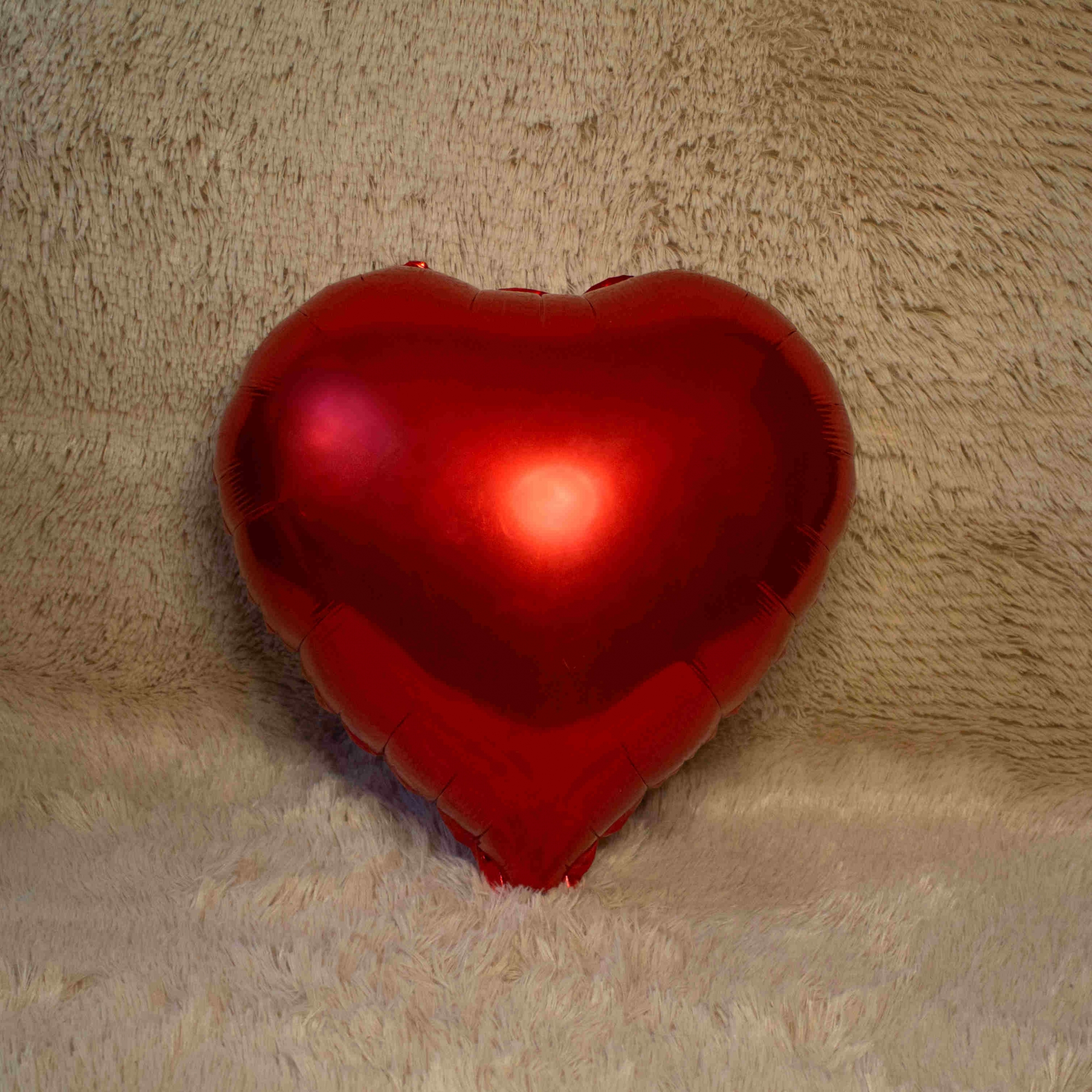 Balão de Coração Vermelho Metalizado