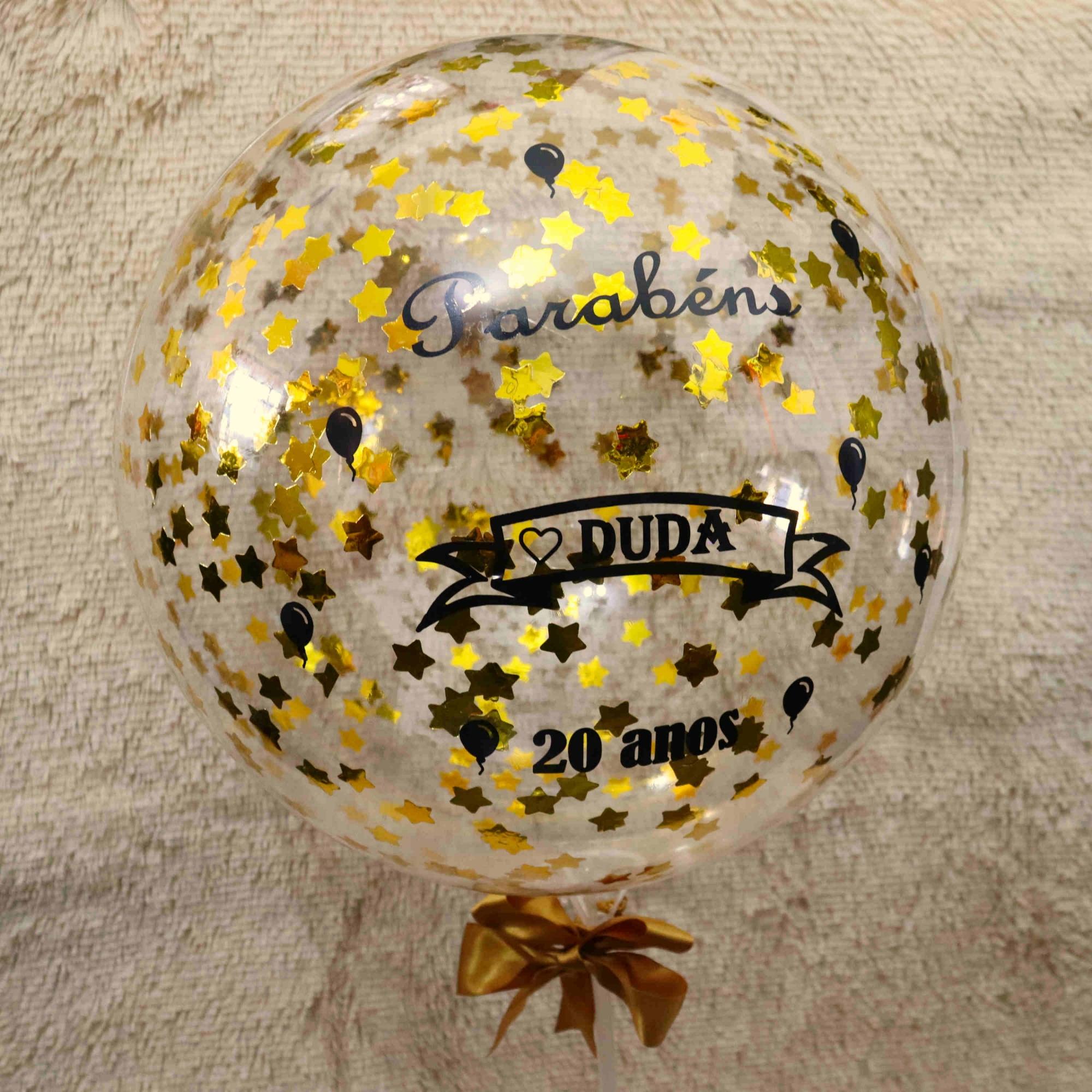 Balão de Estrelas Comemorativa