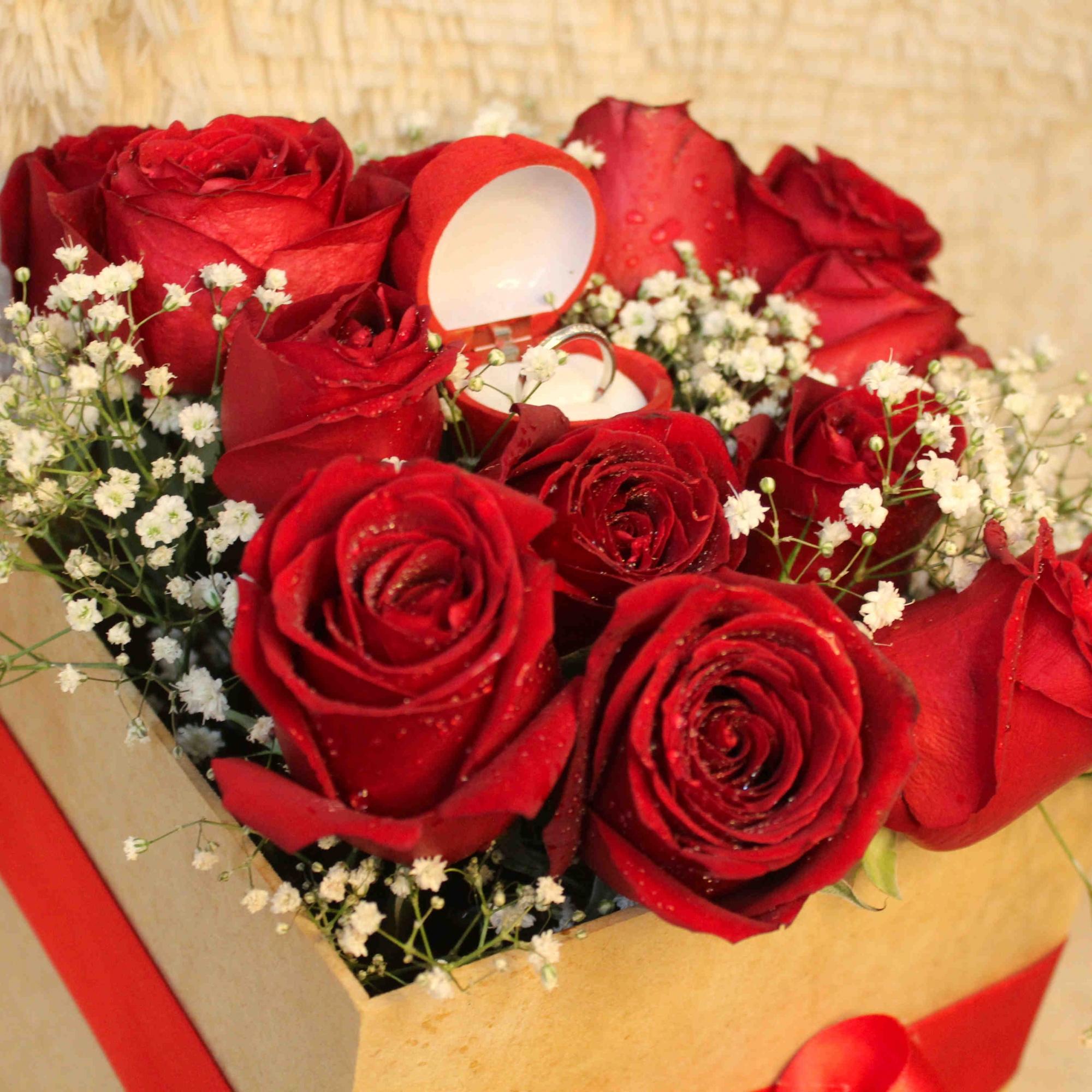 Box Romântico de  Rosas