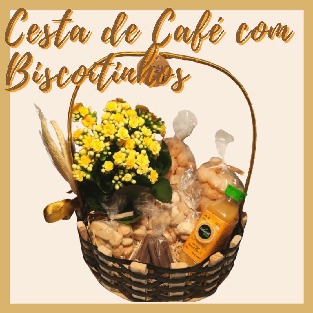 Cesta de Café com Biscoitinhos