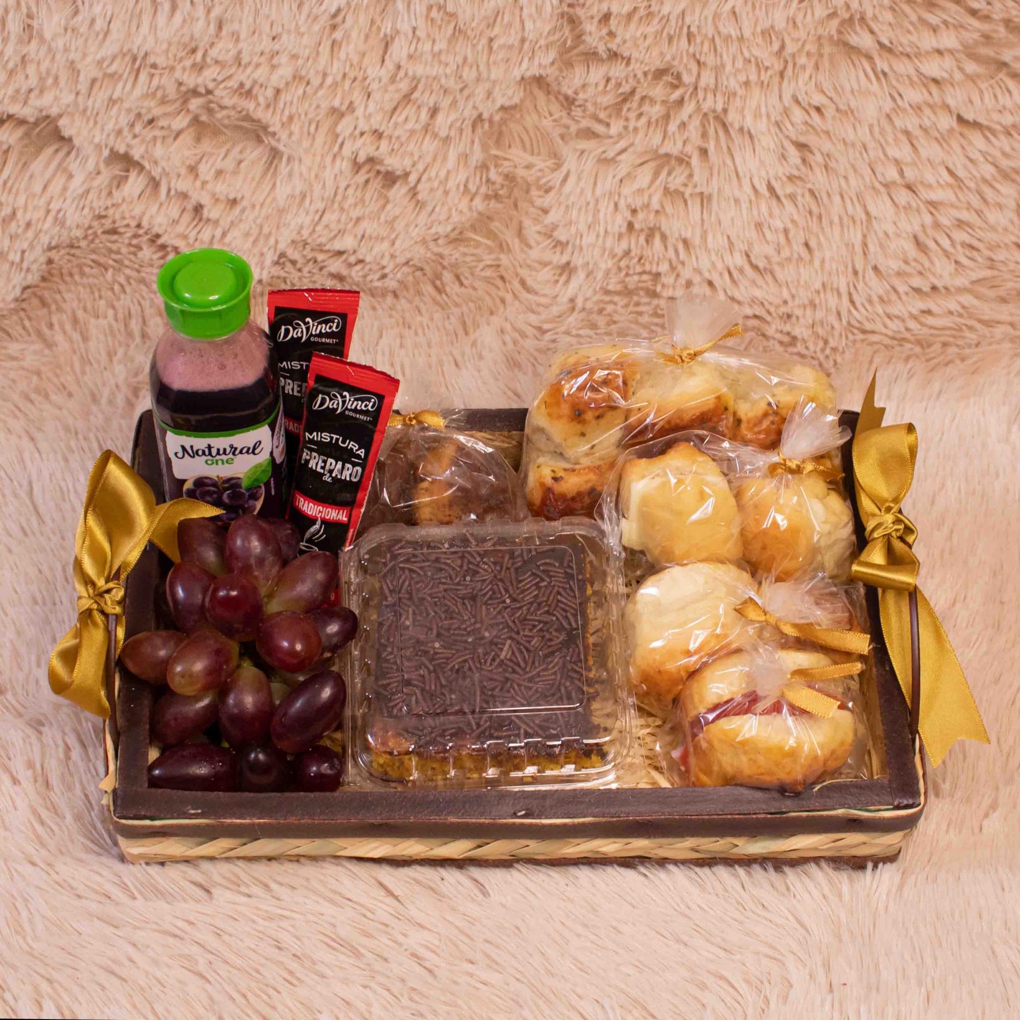 Mini Bandeja de Café da Manhã com Fruta