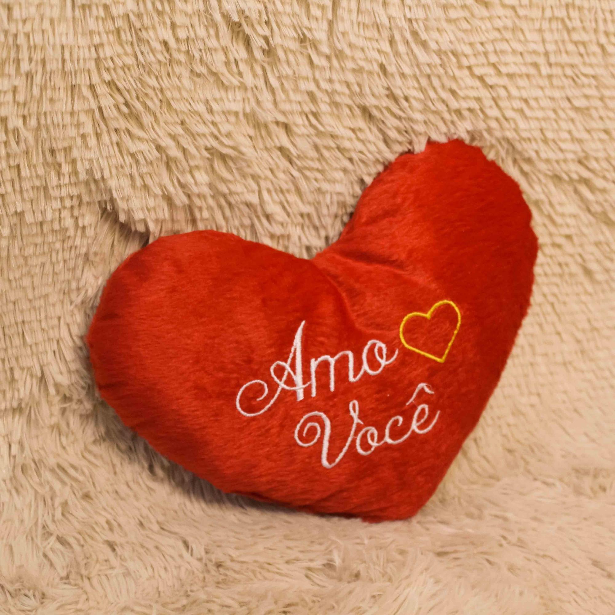 Pelúcia de Coração - Amo Você