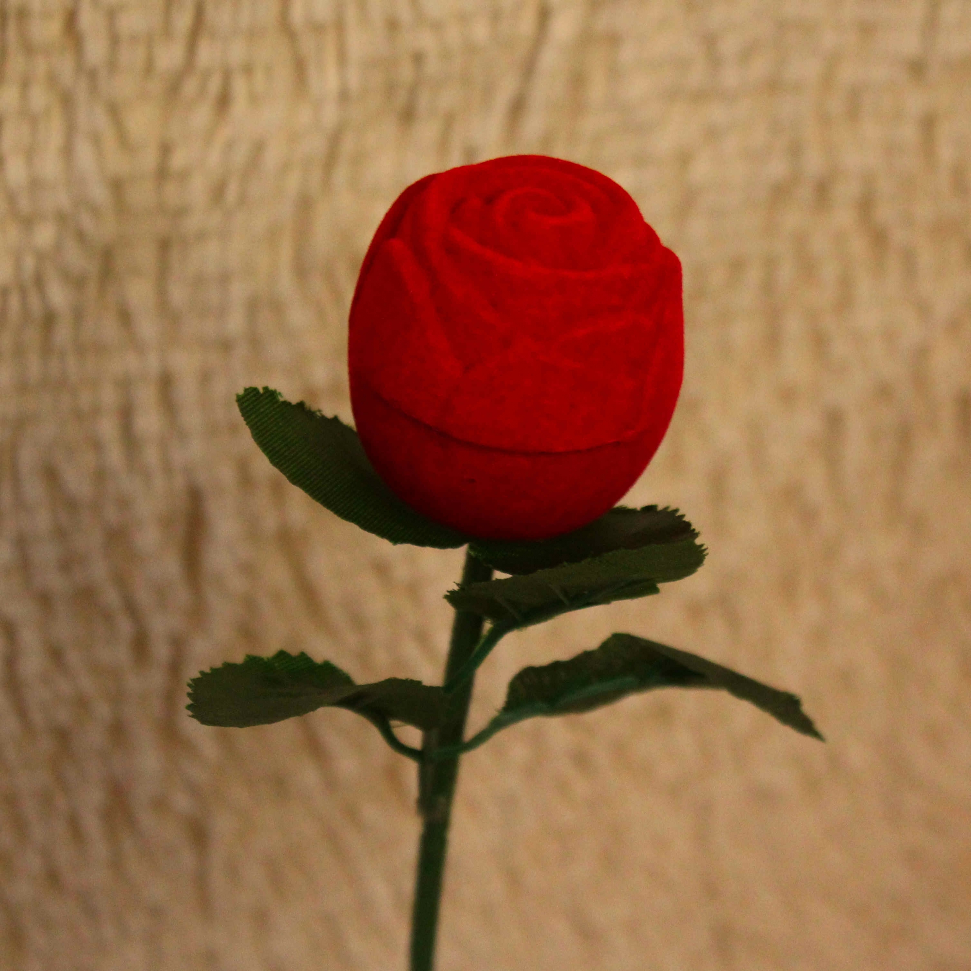Porta Aliança em Formato de Rosa
