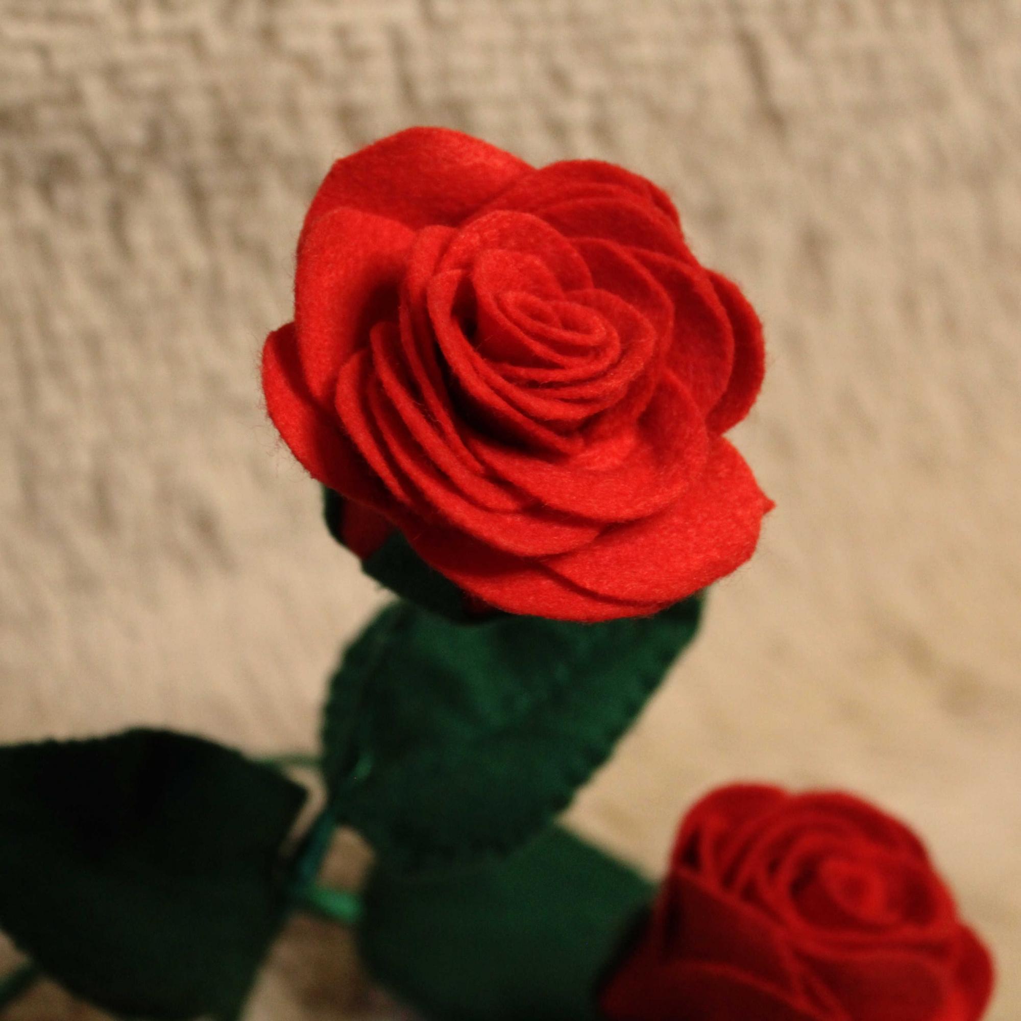 Rosa Artificial de Feltro